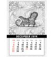 santas sledge coloring book page calendar vector image vector image