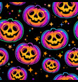 seamless pattern cool multicolored halloween vector image