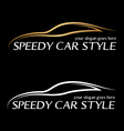 Speedy card logo vector image vector image
