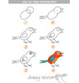 step by step drawing bird vector image vector image