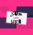 summer banner vintage memphis style vector image vector image