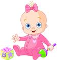 Sweet baby girl vector image vector image