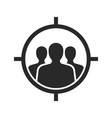 target audience flat icon images vector image vector image