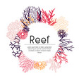 template seaweed and corals vector image