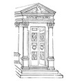 temple of jupiter the door in front of a temple vector image vector image
