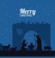 traditional christian christmas vector image vector image