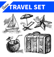 Travel and holiday set vector image vector image