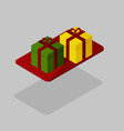 two gifts in isometric view vector image vector image