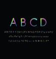 typo a-z 3d neon fonts modern alphabet letters