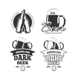 Vintage craft beer brewery emblems labels vector image vector image