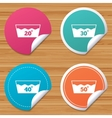 Wash icons Machine washable at forty degrees vector image vector image
