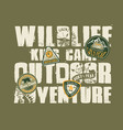 wildlife outdoor adventure kids camp vector image vector image