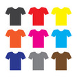 t-shirt icon on white background t-shirt icon vector image