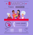 infographic elements template for international vector image