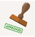 stamp approved with green text vector image