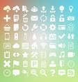 64 Universal Flat Icon Set for web desighers ui vector image vector image
