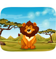 a lion in the nature vector image vector image