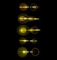 a set of golden solar lens flare a translucent vector image