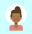 african american female screaming emotion profile vector image