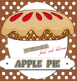 apple pie poster vector image vector image