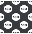 Black hexagon SEO pattern vector image vector image