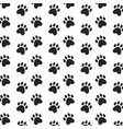 black paws pet background pattern vector image
