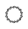 black wreath circle with branch leaves vector image vector image
