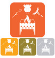 brazier zephyr chicen and sausage icon vector image vector image