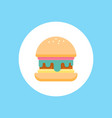 burger icon sign symbol vector image vector image