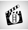 clapper movie and megaphone retro graphic vector image vector image
