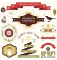 collection of graphic elements for Christmas and vector image
