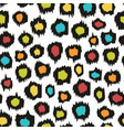 colorful seamless pattern imitation leopard skins vector image vector image