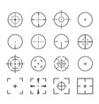 crosshairs icon set vector image vector image