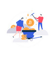 cryptocurrency concept - flat design style vector image vector image