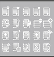 Documents note icons set vector image