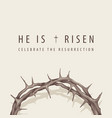 easter banner with inscription and crown thorns vector image vector image