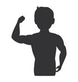 fitness silhouette human icon vector image vector image