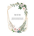 floral botanical card design with leaves vector image vector image