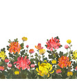 floral seamless border background vector image vector image