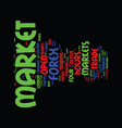 forex market hours text background word cloud vector image vector image