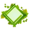 Frame With the Composition of Foliage Number One vector image