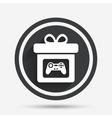 Gift box sign icon Present symbol vector image vector image