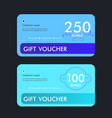 gift voucher template design vector image