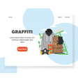 graffiti website landing page design vector image