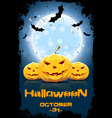 Grungy Background for Halloween Party vector image vector image