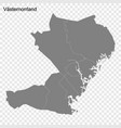 high quality map is a county sweden vector image vector image