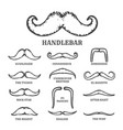 Isolated silhouette moustache collection