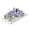 isometric city navigation icon vector image vector image