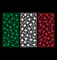 italian flag pattern of space star icons vector image vector image