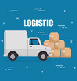 logidtic service with boxes vector image vector image